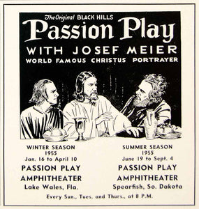 1954 Ad Black Hills Passion Play Josef Meier Christ Spearfish South Dakota YTA4