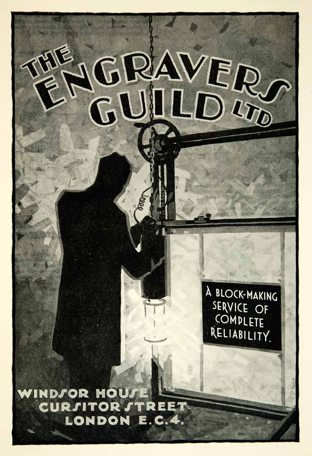 1934 Ad Engravers Guild Windsor House Cursitor Street London Advertisement YTB2