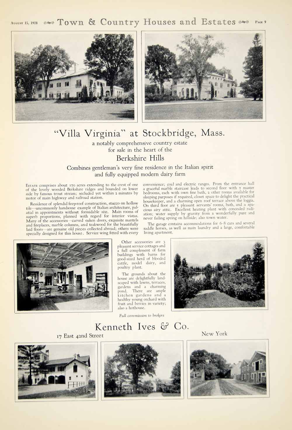 1928 Ad Kenneth Ives Company New York City Architecture Building Berkshire YTC1