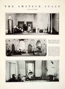 1925 Print Amateur Stage Set Design Leslie Kiler Theater Gordon Davis Movie YTM1 - Period Paper