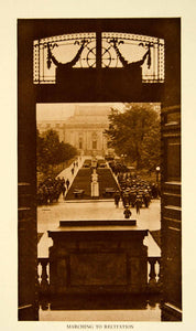 1924 Photogravure Midshipmen Marching Recitations Naval Academy Annapolis YTMM4