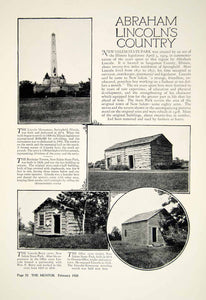 1928 Article Abraham Lincoln New Salem State Park IL Historic Landmarks YTMM5