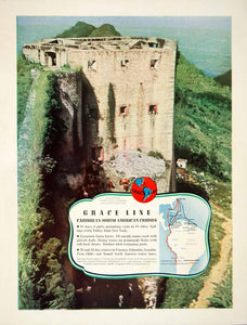 1939 Ad Grace Line South American Cruise Line Ruins Caribbean Henri YTR1