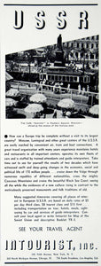 1938 Ad USSR Intourist Russia Soviet Union Tourism Travel Pushkin Square YTR1