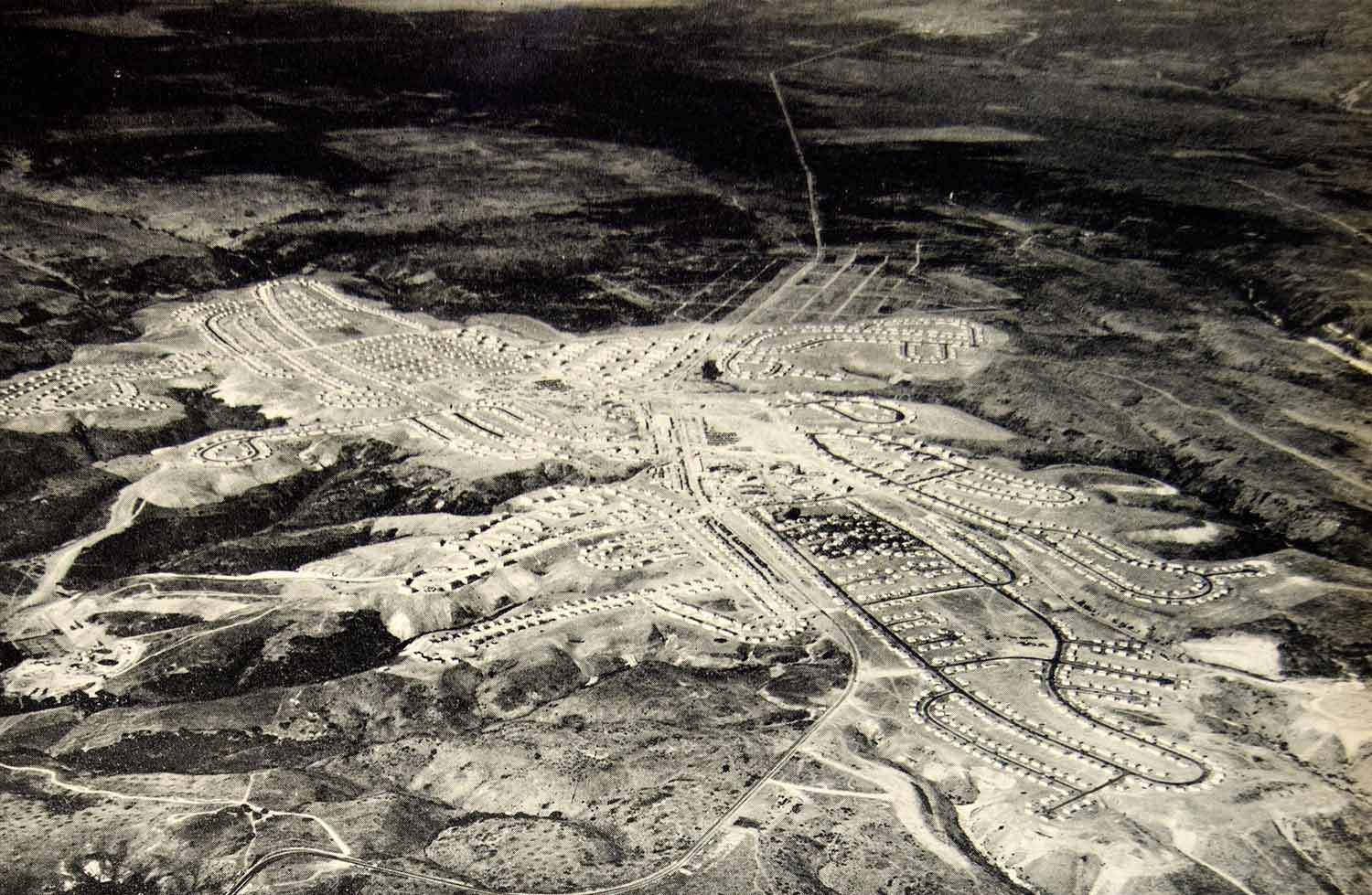 1942 Print Kearney Mesa Housing Project Consolidated Aircraft Aerial View YTR1