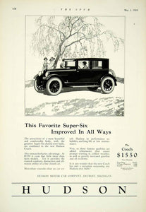 1924 Ad Hudson 2 Door Coach Super Six Chassis Luxury Automobile Roaring YTS2