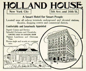 1912 Ad Holland House Hotel 5th Avenue 30th Street NYC Historic Landmark YTT2