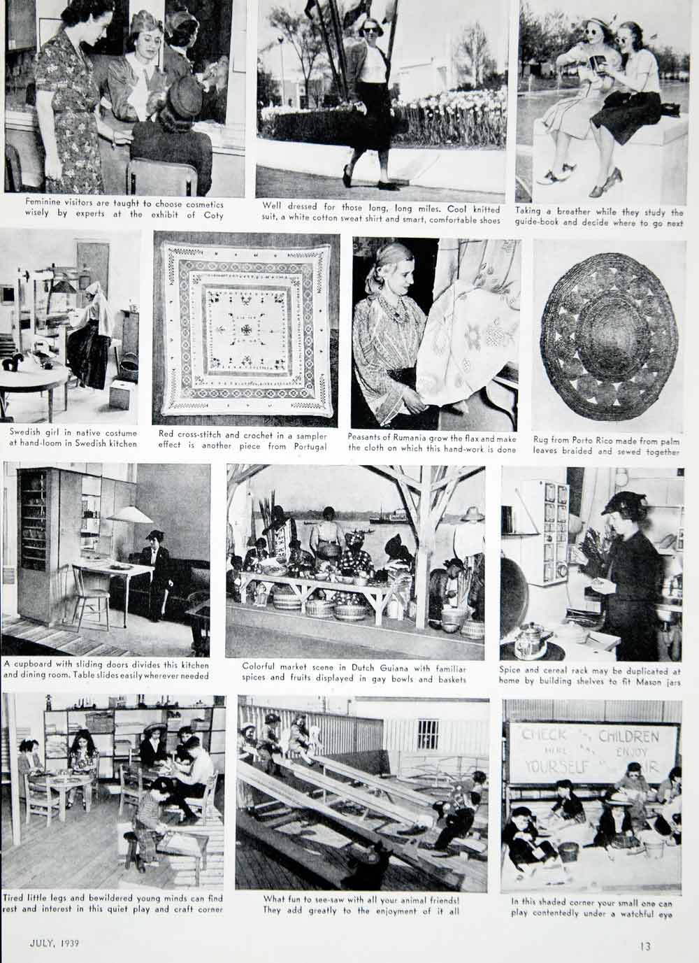 1939 Article New York World's Fair Exhibits Food Fashion Reviews Historical  YWD3