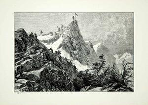 1921 Wood Engraving Art Captain John Fremont Rocky Mountains Expedition YWE1