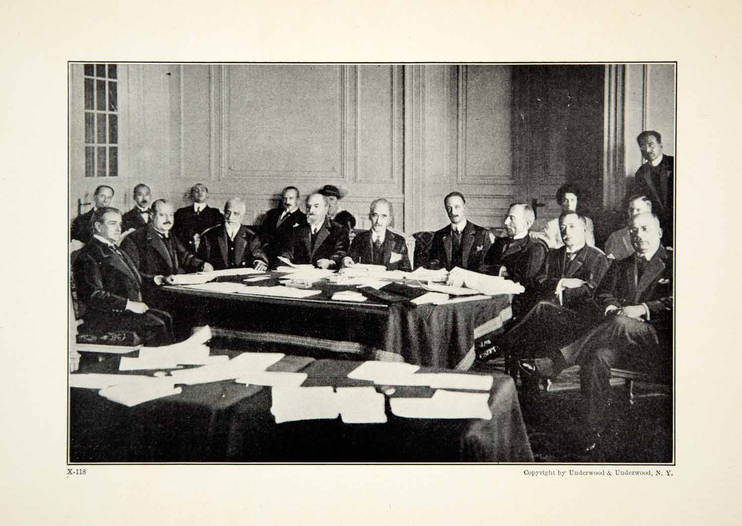 1921 Print First Meeting Council League Nations President Leon Bourgeois YWE1