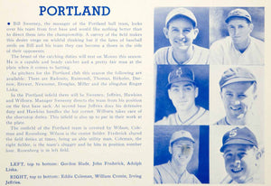 1939 Print PCL Baseball Sports Memorabilia Portland Beavers Athlete Player YWU1