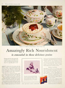 1929 Ad Quaker Oats Puffed Rice Breakfast Cereal Food Grocery Dishes YWW1