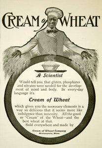 1902 Ad Cream Wheat Chef Rastus Breakfast Cereal Food Minneapolis MN YYC1