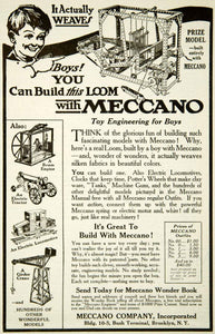 1917 Ad Meccano Toy Engineering Wonder Book Building Boy Child Loom YYC2