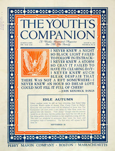 1924 Cover Youth's Companion John Kendrick Bangs Love Quotation Twenties YYC5