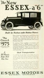 1924 Ad Essex Hudson Super-Six Coach Touring Vintage Car Auto Roaring YYC5
