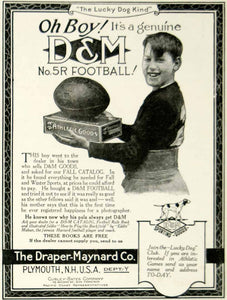 1924 Ad Draper-Maynard D&M Lucky Dog 5R Football Sporting Goods Athlete YYC5