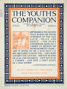 1925 Cover Youths Companion September Quotation Caleb Peaslee Farm Almanac YYC6