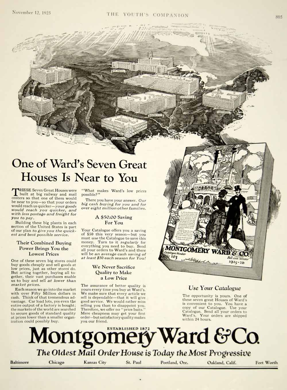 1925 ad montgomery ward catalog seven great houses us map department 1925 ad montgomery ward catalog seven great houses us map department store yyc6 publicscrutiny Image collections