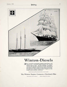 1928 Ad Winton Diesel Engine Marine Motor Yacht Boat Guinevere Aloha Ship YYM1