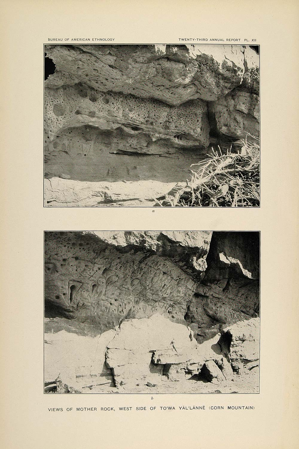 1904 Print Mother Rock Corn Mountain Towa Yallanne Zuni ORIGINAL HISTORIC ZN1