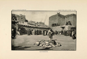 1904 Print Zuni Pueblo Indian Auction Mary Wright Gill ORIGINAL HISTORIC ZN1