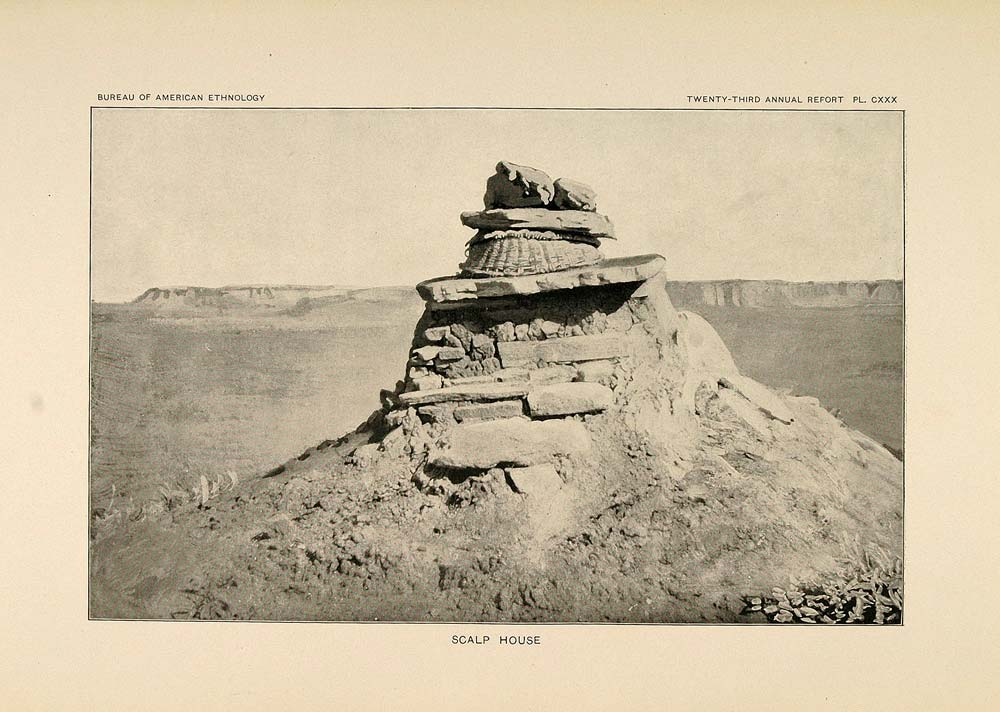 1904 Print Zuni Indian Scalp House New Mexico Desert - ORIGINAL HISTORIC ZN1