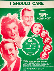 1944 Sheet Music I Should Care Thrill of a Romance Tommy Dorsey Esther ZSM1