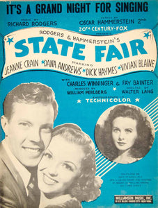 1945 Sheet Music It's a Grand Night for Singing State Fair Movie Musical ZSM8