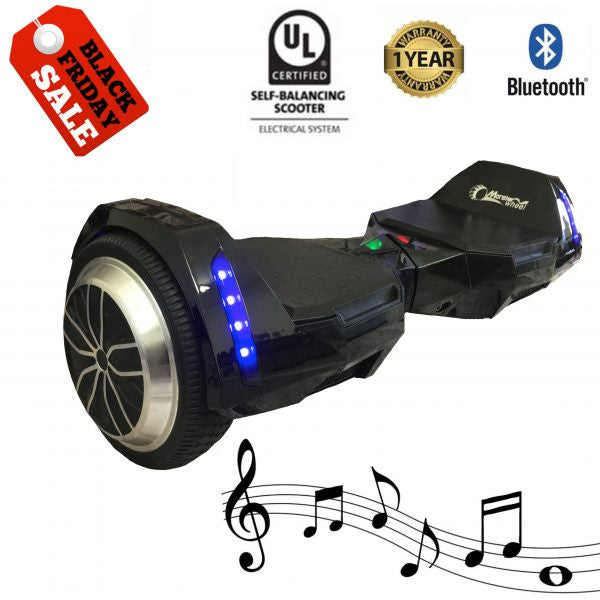 Black Ultra X Storm Hoverboard (Bluetooth) - UL2272 Certified