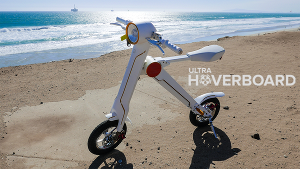 White Ultra X-Bike Folding Electric Scooter Smart Bike