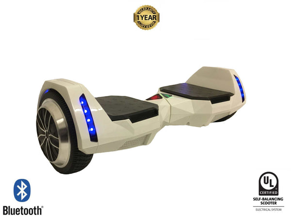 White Ultra X Storm Hoverboard (Bluetooth) - UL2272 Certified