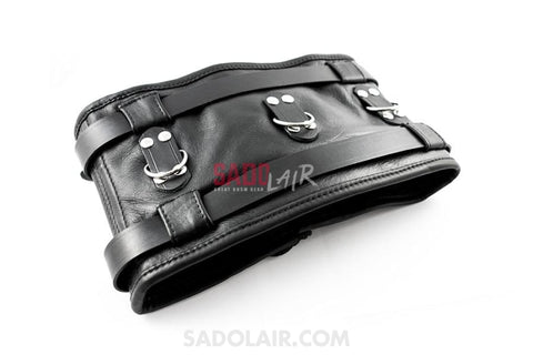 Lockable Bondage Belt With Lacing Sadolair Collection