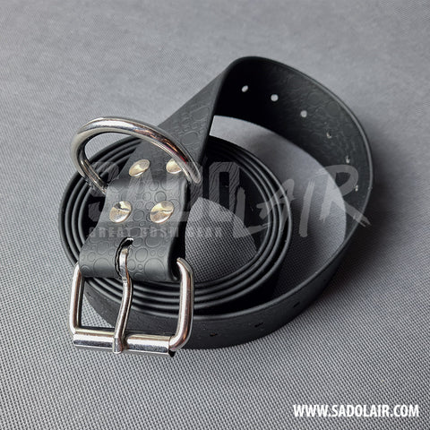 Black Bondage PVC Belt 40 mm
