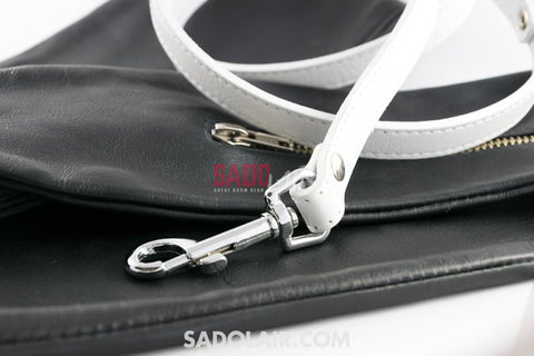 Leather Leash - White