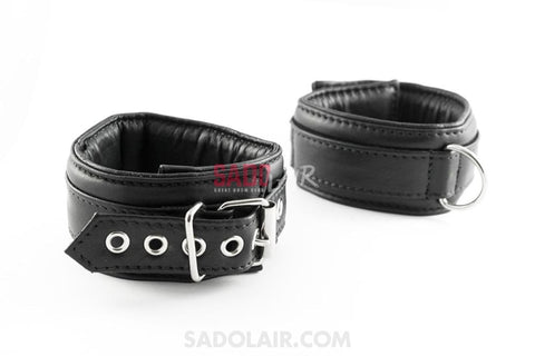 Leather Padded Ankle Cuffs Softy Sadolair Collection