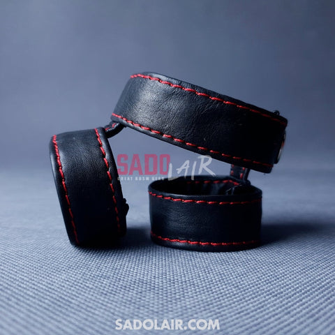 Leather Penis Harness Triple Sadolair Collection