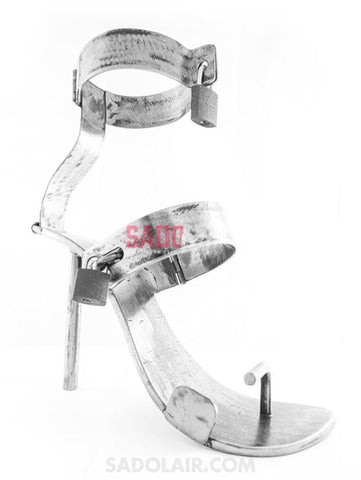 Metal Bdsm Lockable High-Heel Boots Sadolair Collection