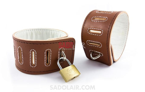 Psycho Leather Cuffs For Ankles Sadolair Collection