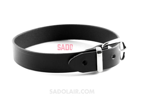 Black Leather Collar Sadolair Collection