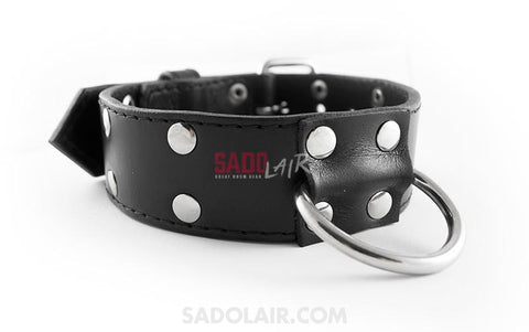 Leather Wide Collar Decorated