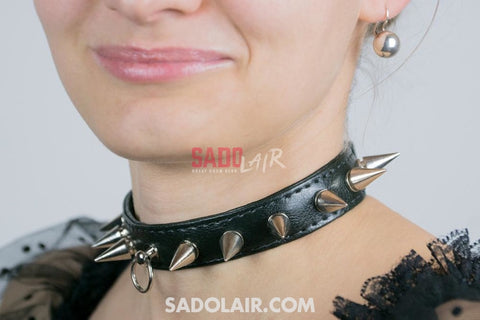 Classic Collar With Spikes Sadolair Collection