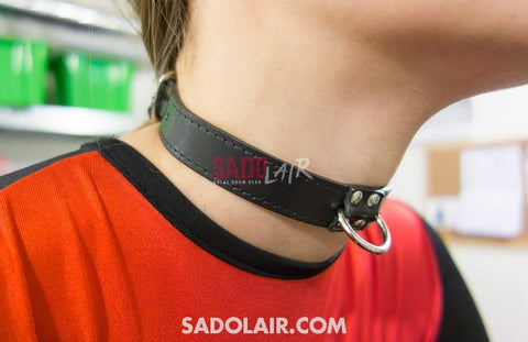 Thin Collar Leather - Decorated