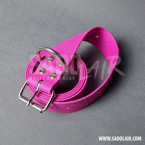 Pink Bondage PVC Belt 40 mm