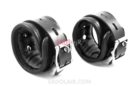 Padded Leather Wrist Cuffs Sadolair Collection