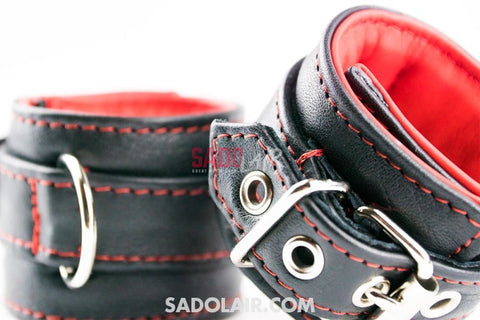 Leather Padded Handcuffs Softy Sadolair Collection