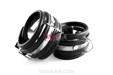 Pvc Handcuffs Clear Stitched I. Sadolair Collection