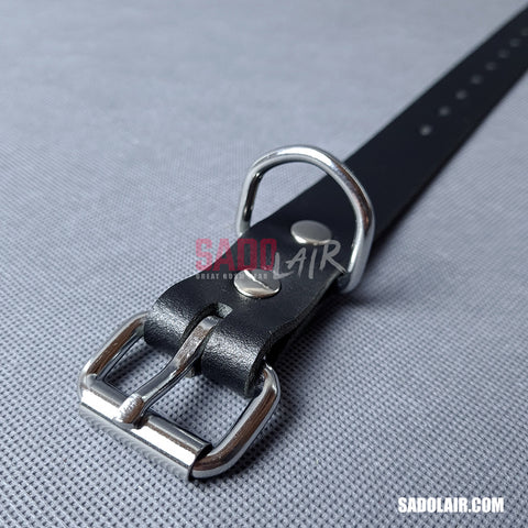 Leather Bondage Belt 25mm Black