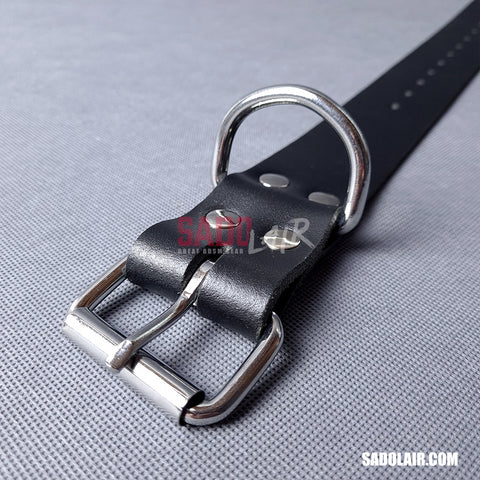 Leather Bondage Belt 40mm Black