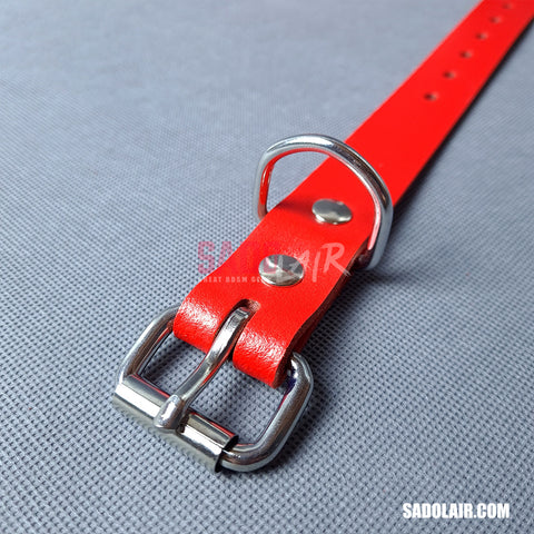 Leather Bondage Belt 25mm Red